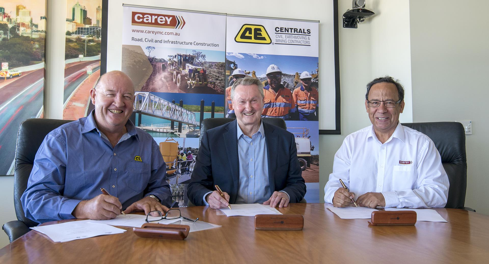 Craig Patterson MD Centrals, Daniel Tucker MD Carey Mining and Peter Woronzow MD Main Roads